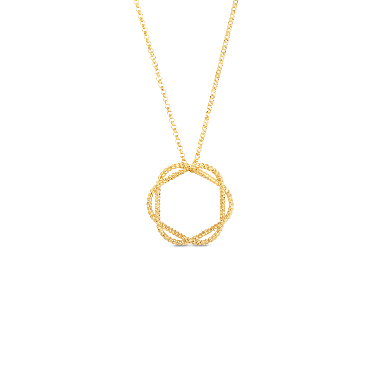 Roberto coins italian gold circle pendant in new barocco roberto coin barocco 18k yellow gold circle pendant aloadofball Image collections