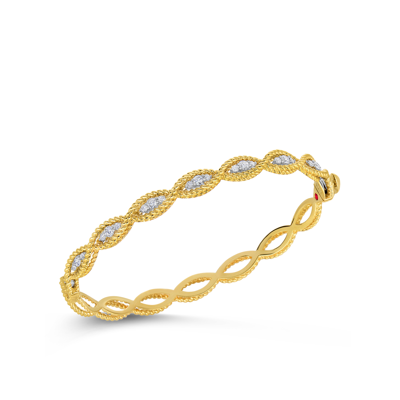 product white roberto gold type bangle yellow diamonds bracelet barocco coin bangles with and row italian