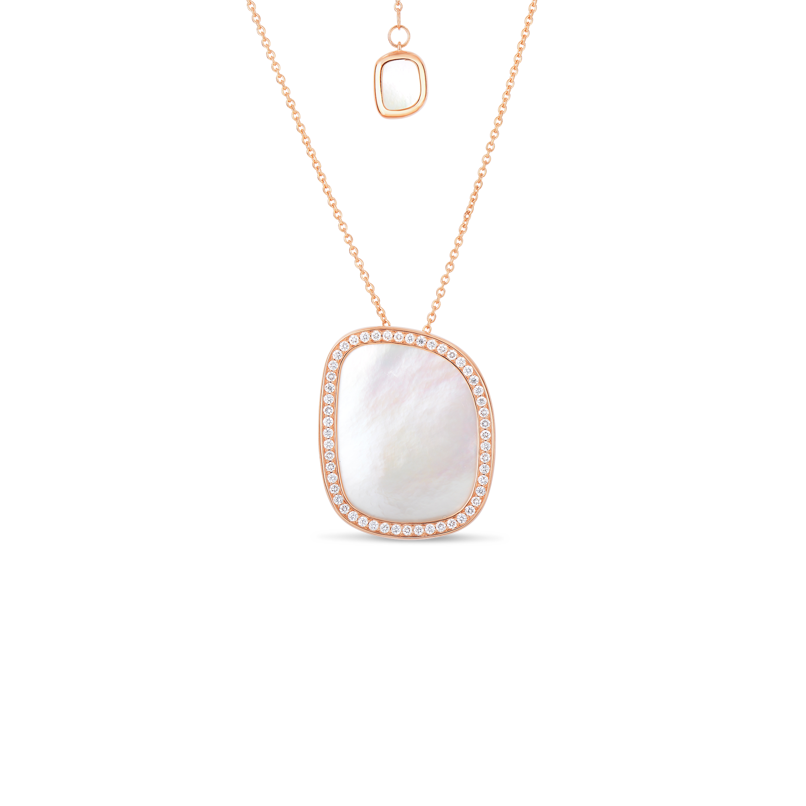 Buy gold small pendant with mother of pearl and diamonds roberto coin black jade 18k rose gold small aloadofball