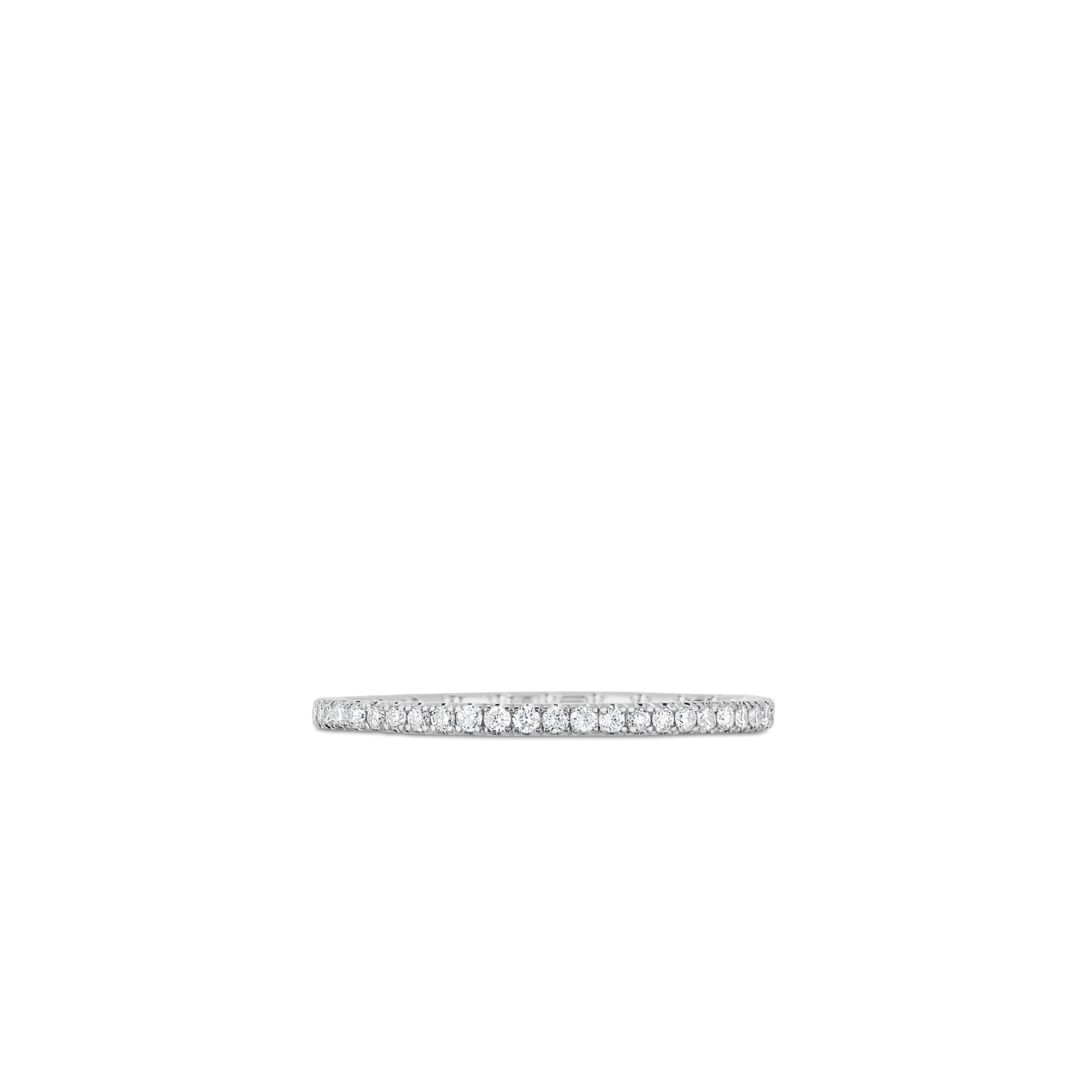 Roberto Coin Classic Diamond 18K White Gold Eternity Band Ring With Diamonds