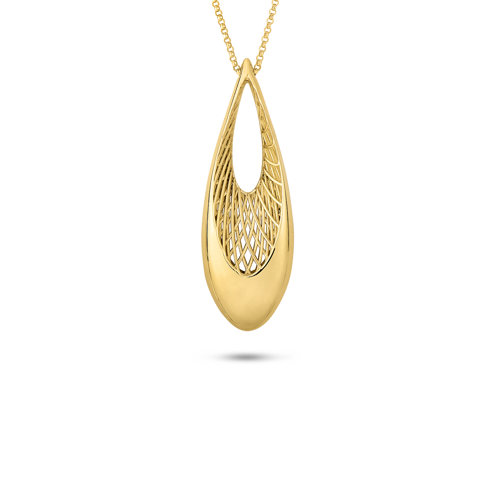 feather stud yellow overstock italian shipping product free jewelry today gold earrings fremada adaf watches