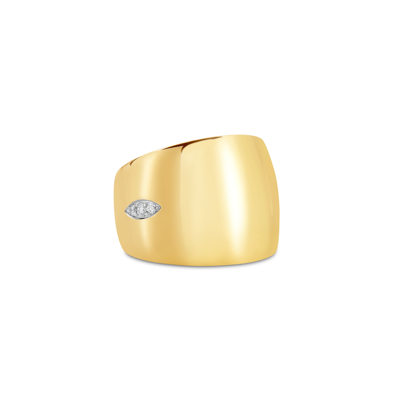 Roberto-Coin-Golden-Gate-18K-Yellow-Gold-and-18K-White-Gold-Ring-with-Diamonds-7771157AJ65X