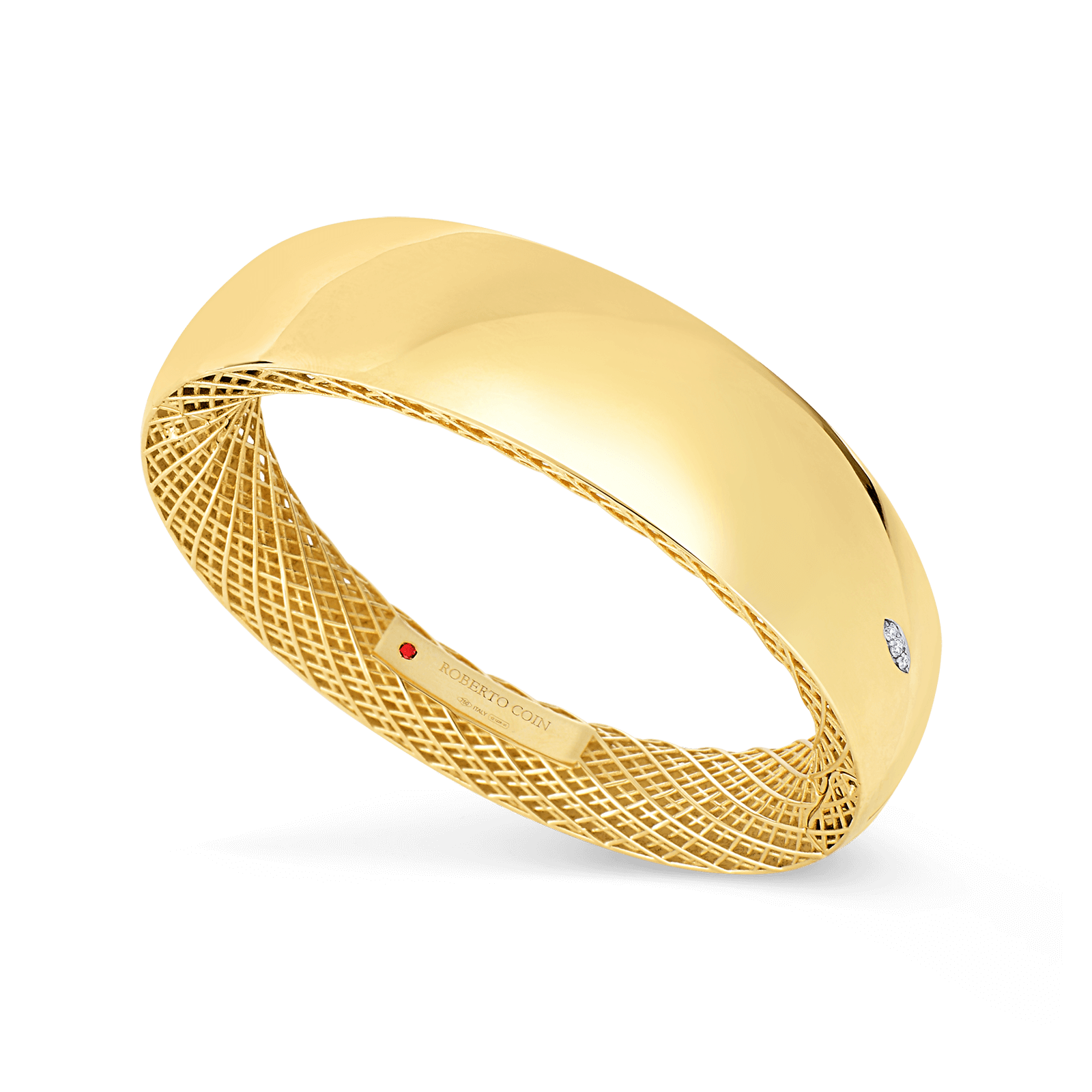 bangle yellow circle fully gm products spanned set cutout piece in gold of pattern bangles small w
