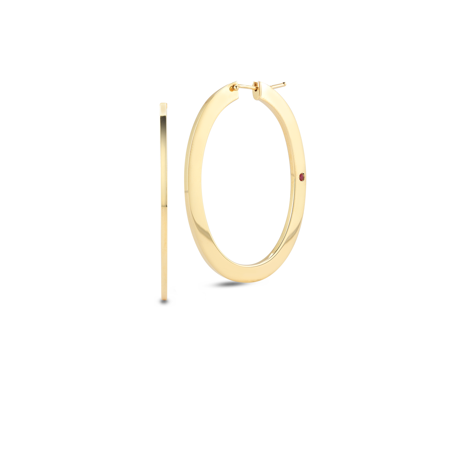 Roberto Coin Perfect Gold Hoops 18k Yellow