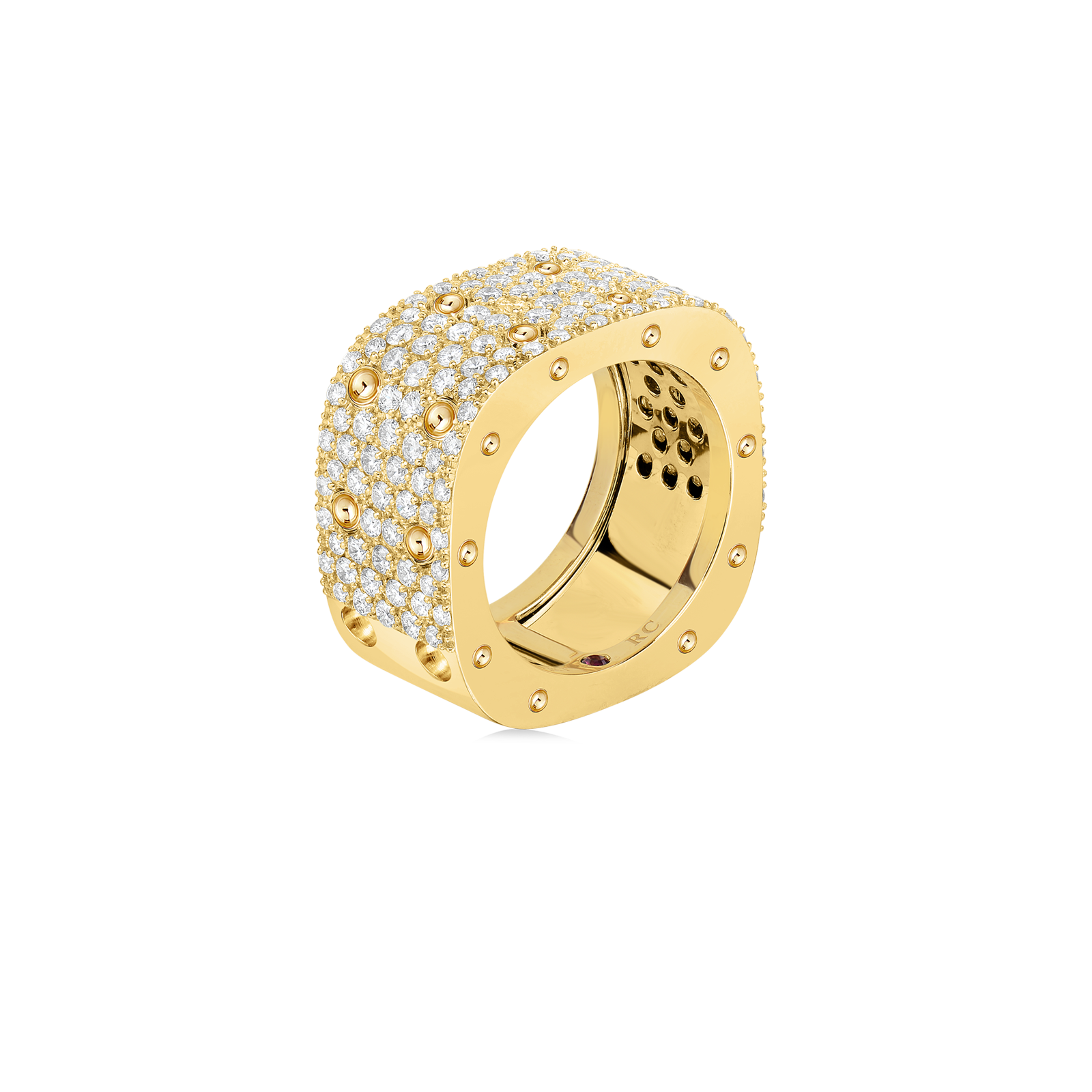 Roberto-Coin-Pois-Moi-18K-Yellow-Gold-2-Row-Square-Ring-with-Diamonds-888705AY50X0_SIDE