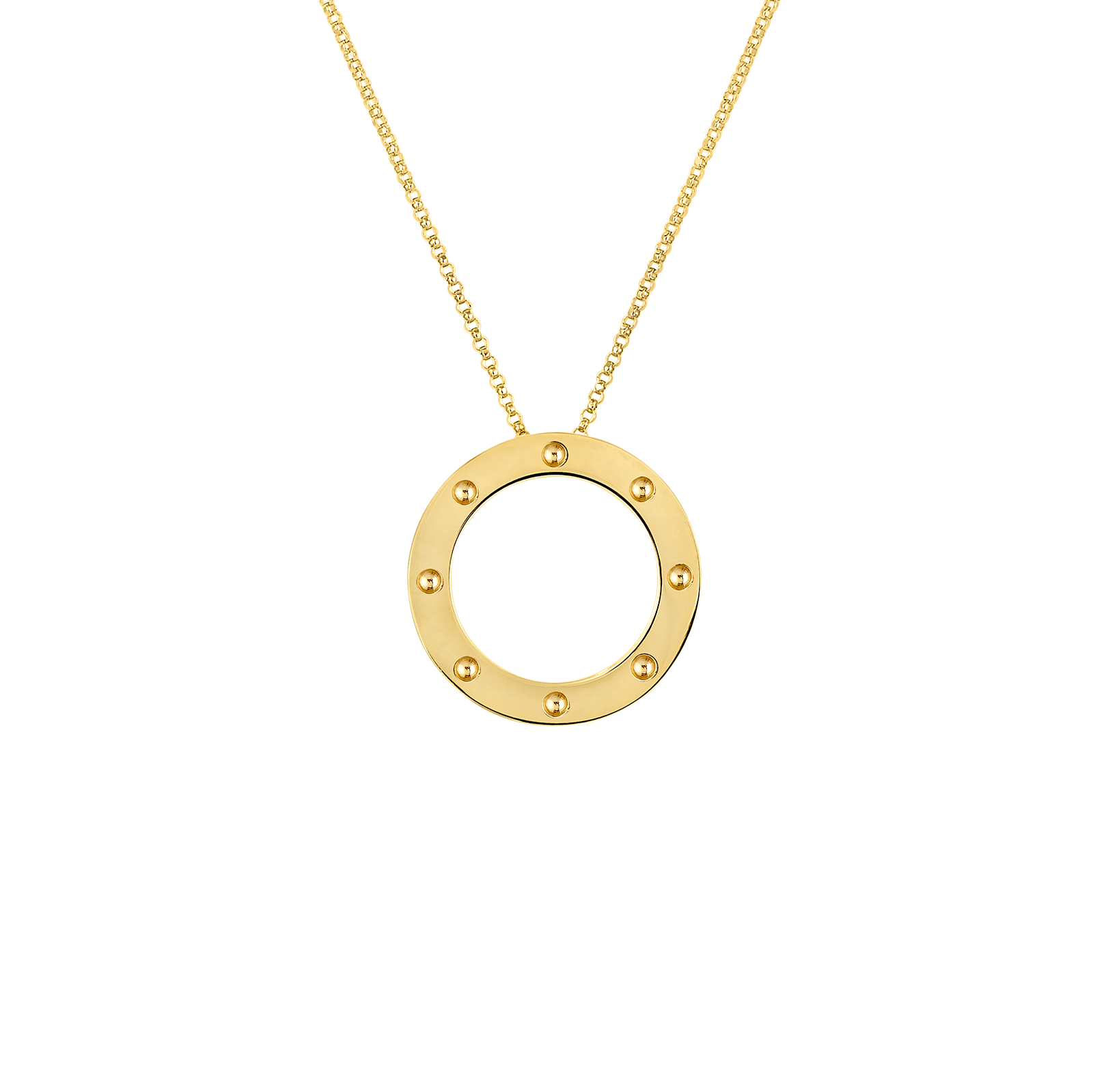 Roberto coins gold circle pendant from pois moi collection roberto coin pois moi 18k yellow gold circle aloadofball Gallery