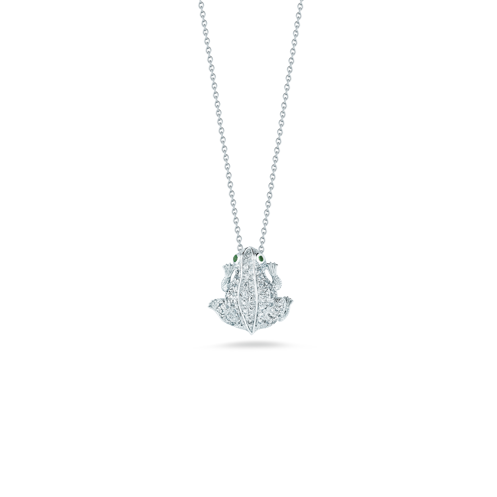 Roberto coins frog pendant with diamonds in gift category roberto coin tiny treasures 18k white gold frog mozeypictures Image collections