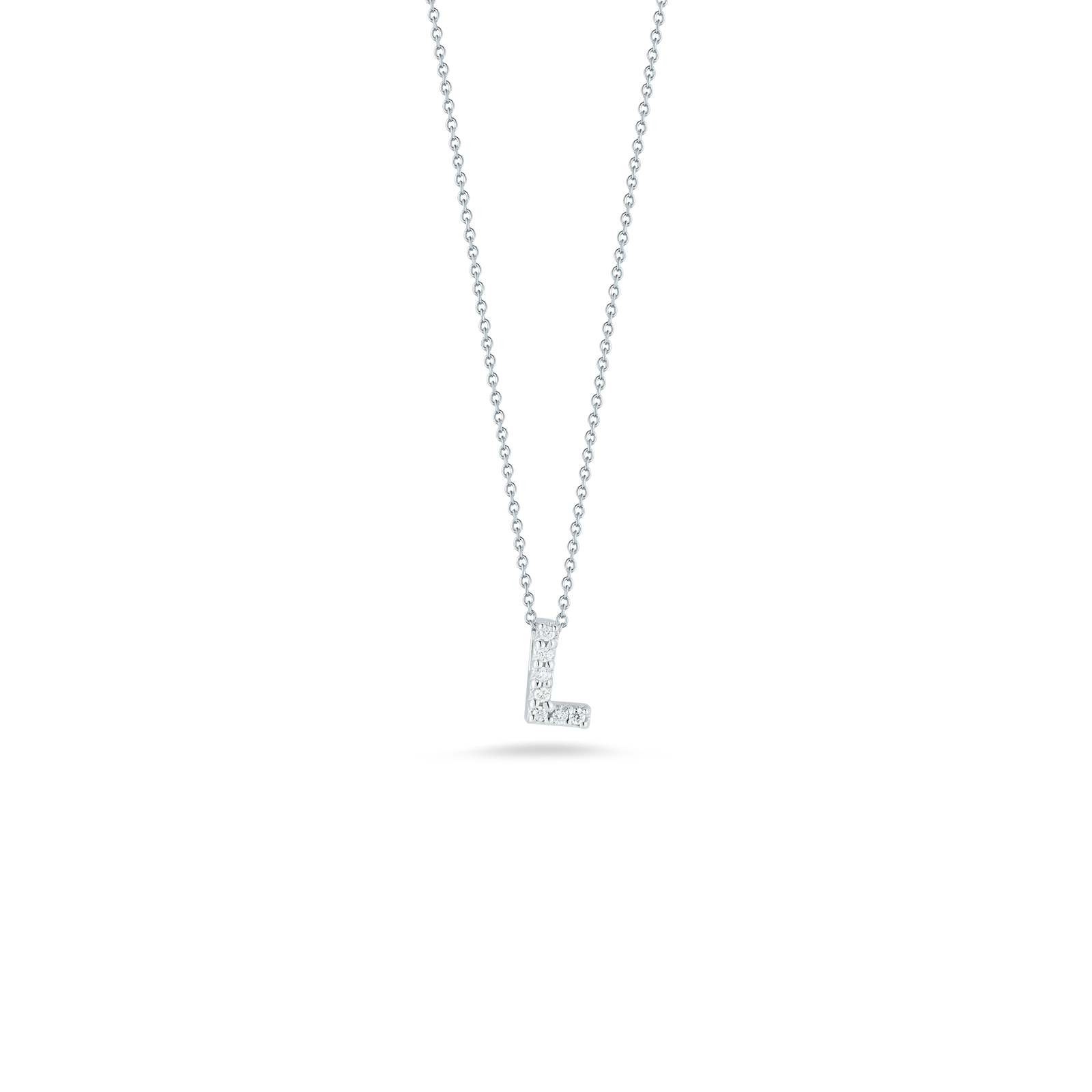Gift italian gold love letter l pendant with diamonds roberto coin tiny treasures 18k white gold love aloadofball Gallery