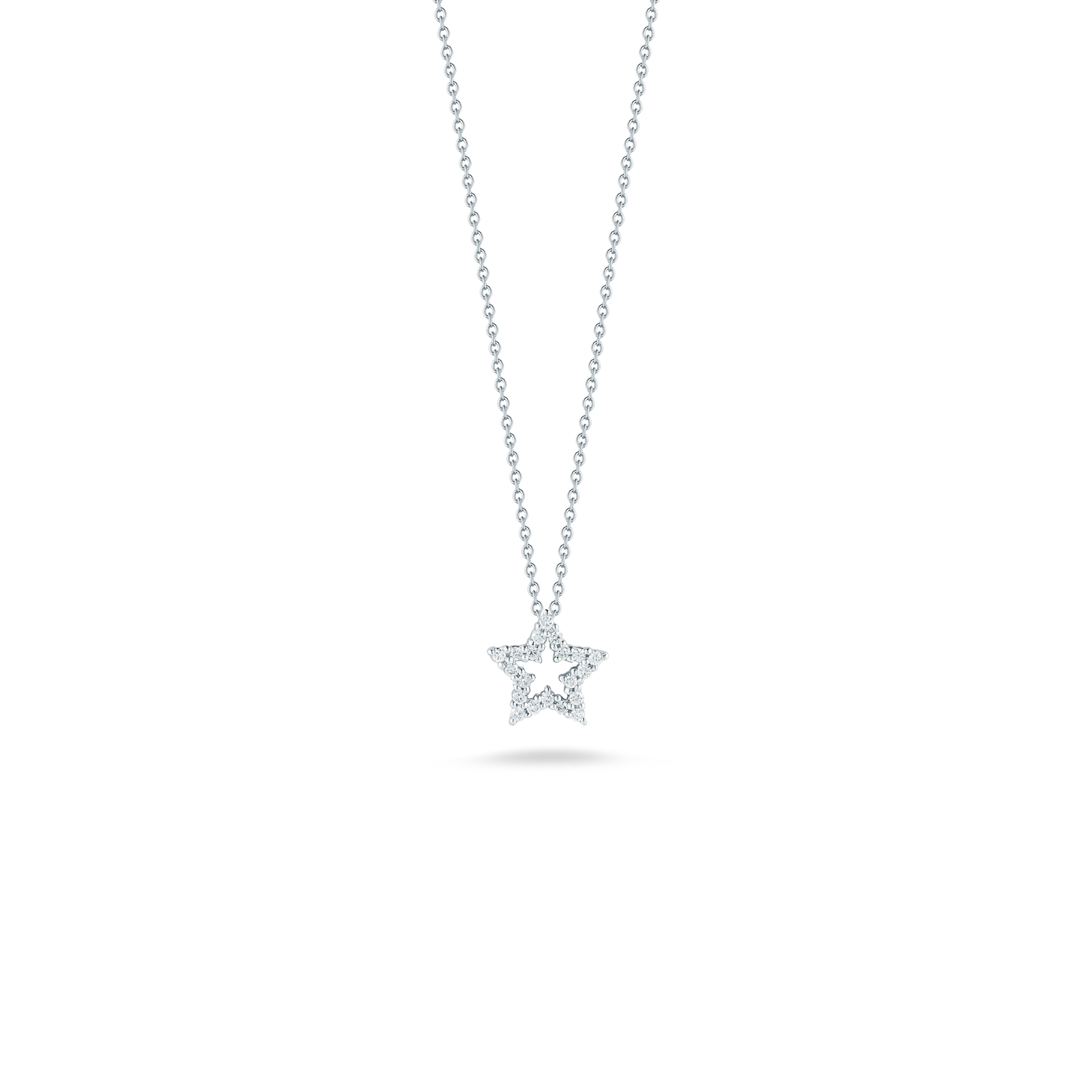 Star pendant with diamonds roberto coins gift collection roberto coin tiny treasures 18k white gold star mozeypictures Gallery