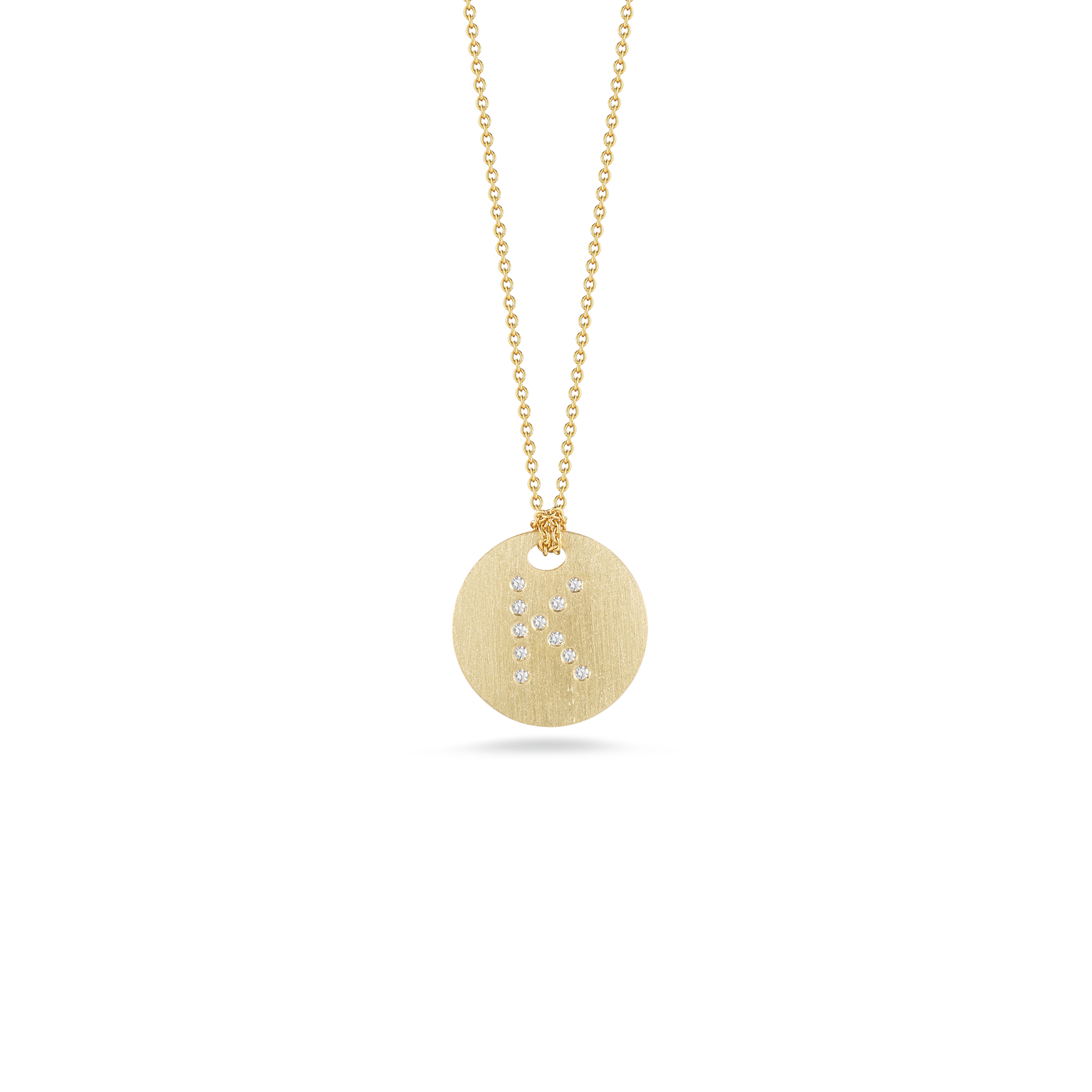 Roberto coins gold disc pendant with diamond initial k roberto coin tiny treasures 18k yellow gold disc aloadofball Gallery