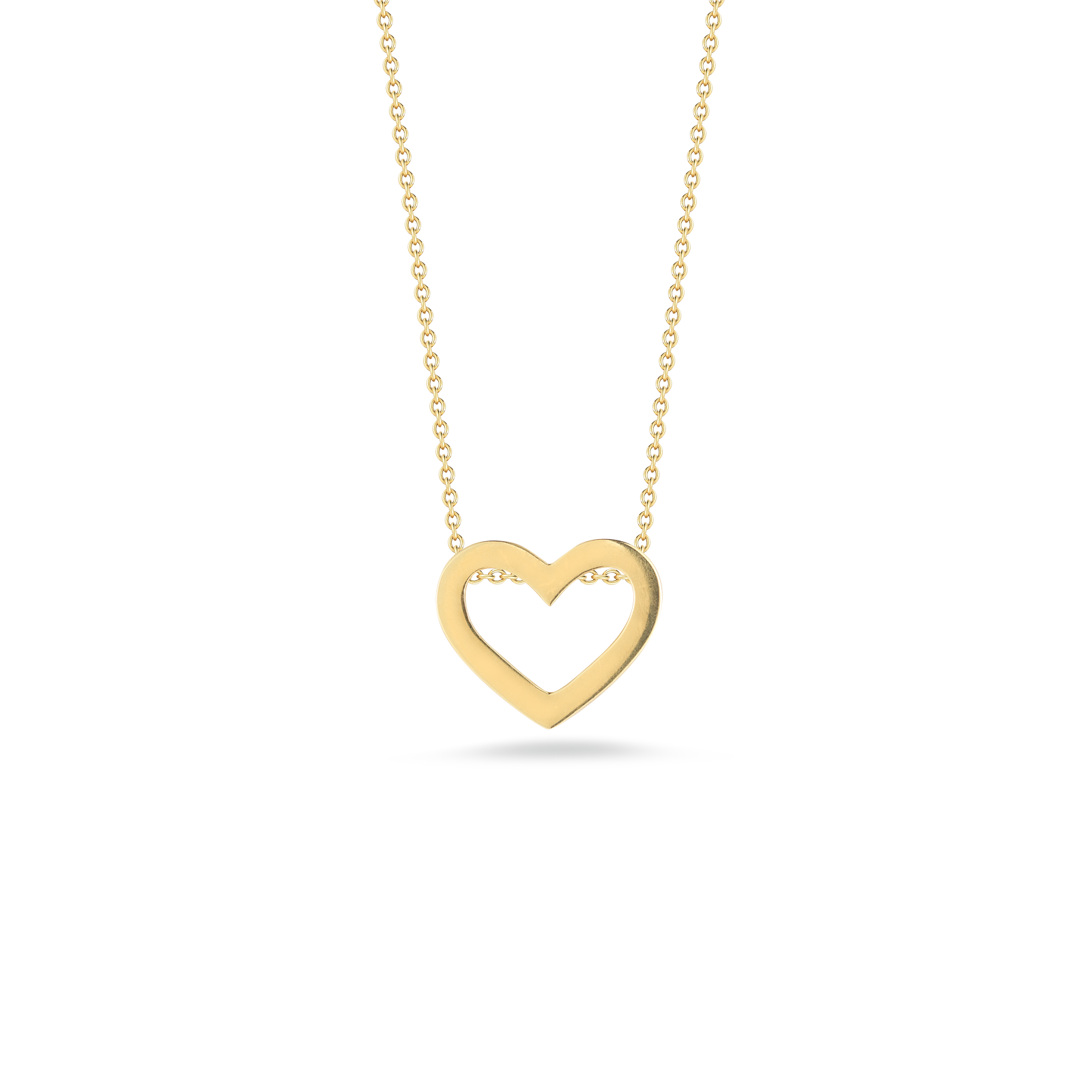 Italian gold heart pendant from gift collection roberto coin roberto coin tiny treasures 18k yellow gold heart mozeypictures Images