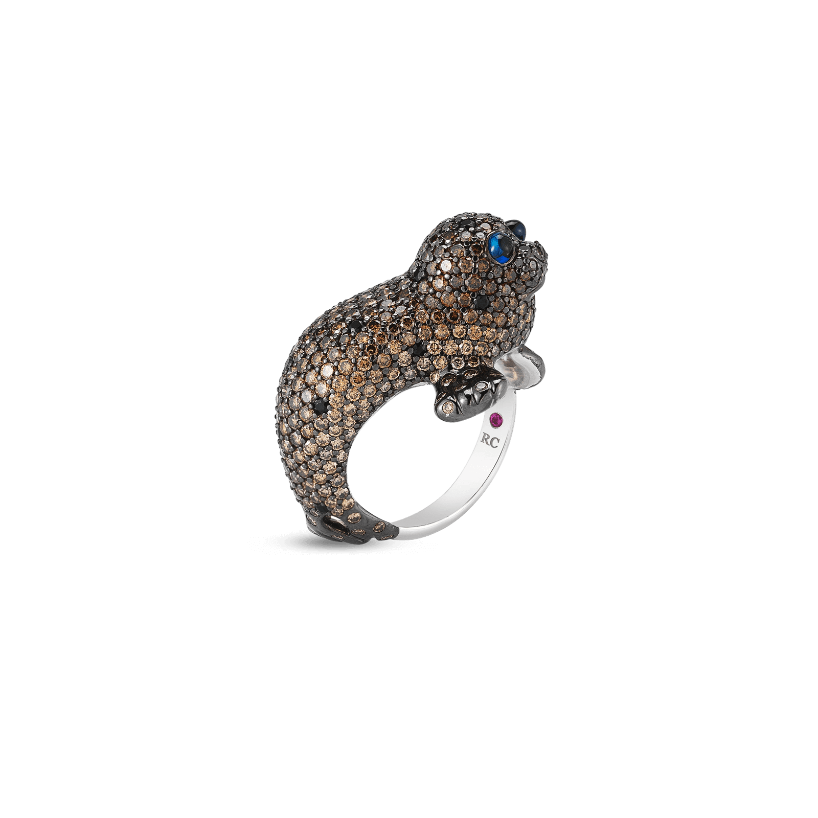 Roberto-Coin-Animalier-18K-White-Gold-Seal-Ring-with-Diamonds-and-Sapphires-378024AW65JX_A