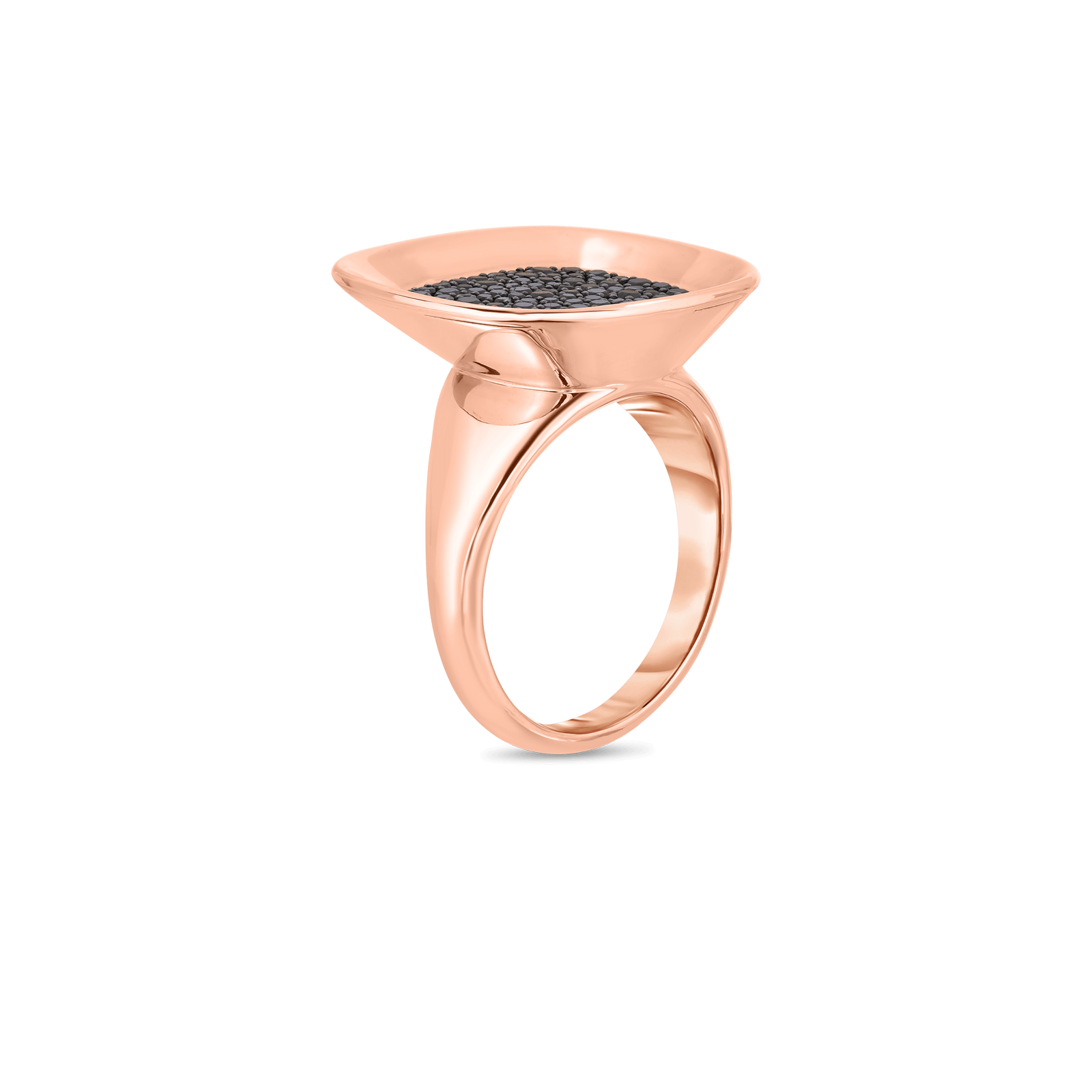 Roberto-Coin-18k-rose-gold-Small Ring with Black Diamonds-8882192AB65Balt