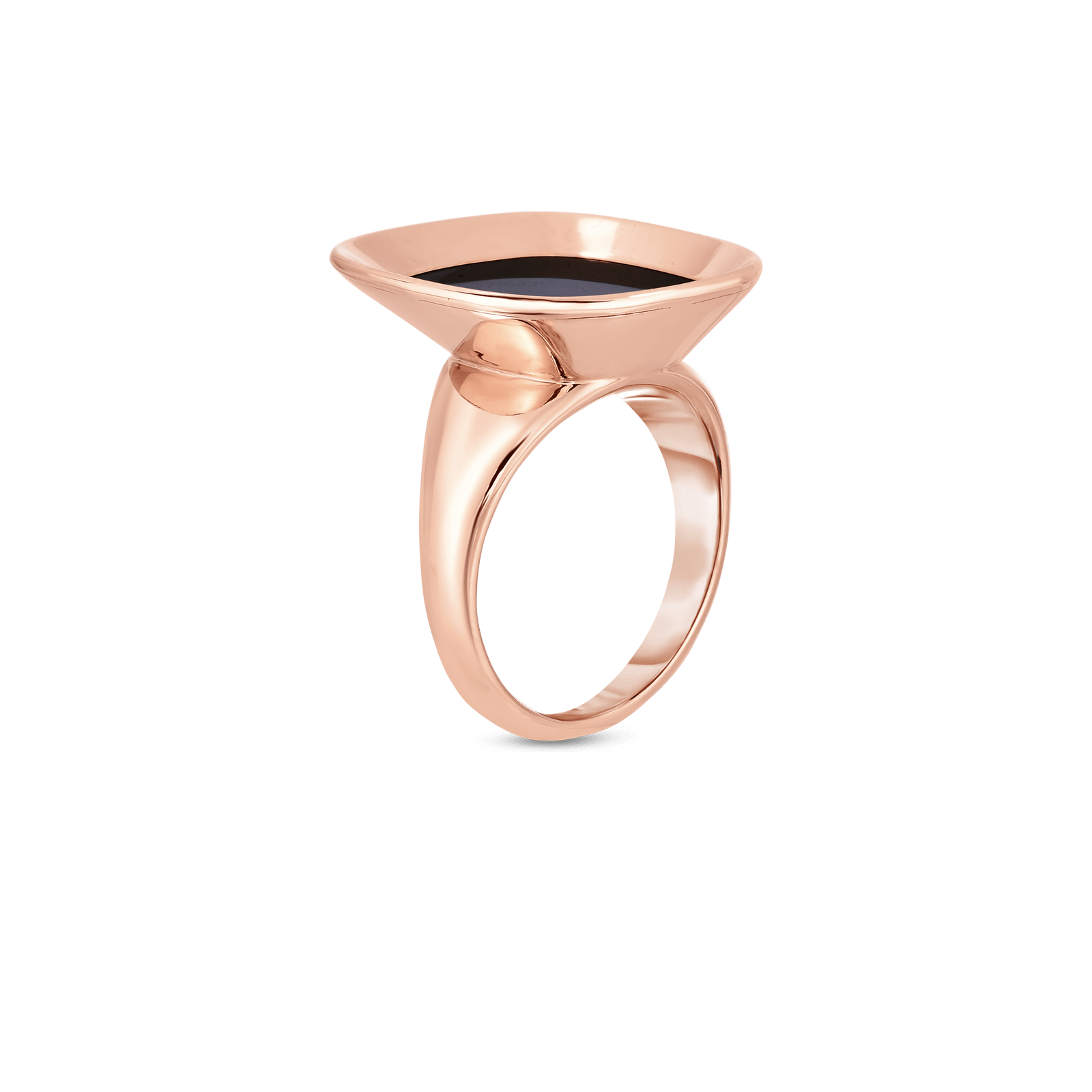 Roberto-Coin-18k-rose-gold-Small Ring with Black Jade-8882208AX65Balt