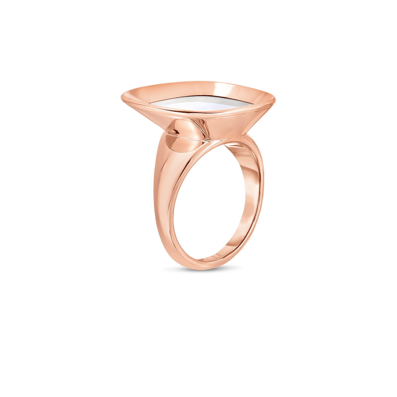 Roberto-Coin-18k-rose-gold-Small Ring with Mother of Pearl-8882210AX65Malt