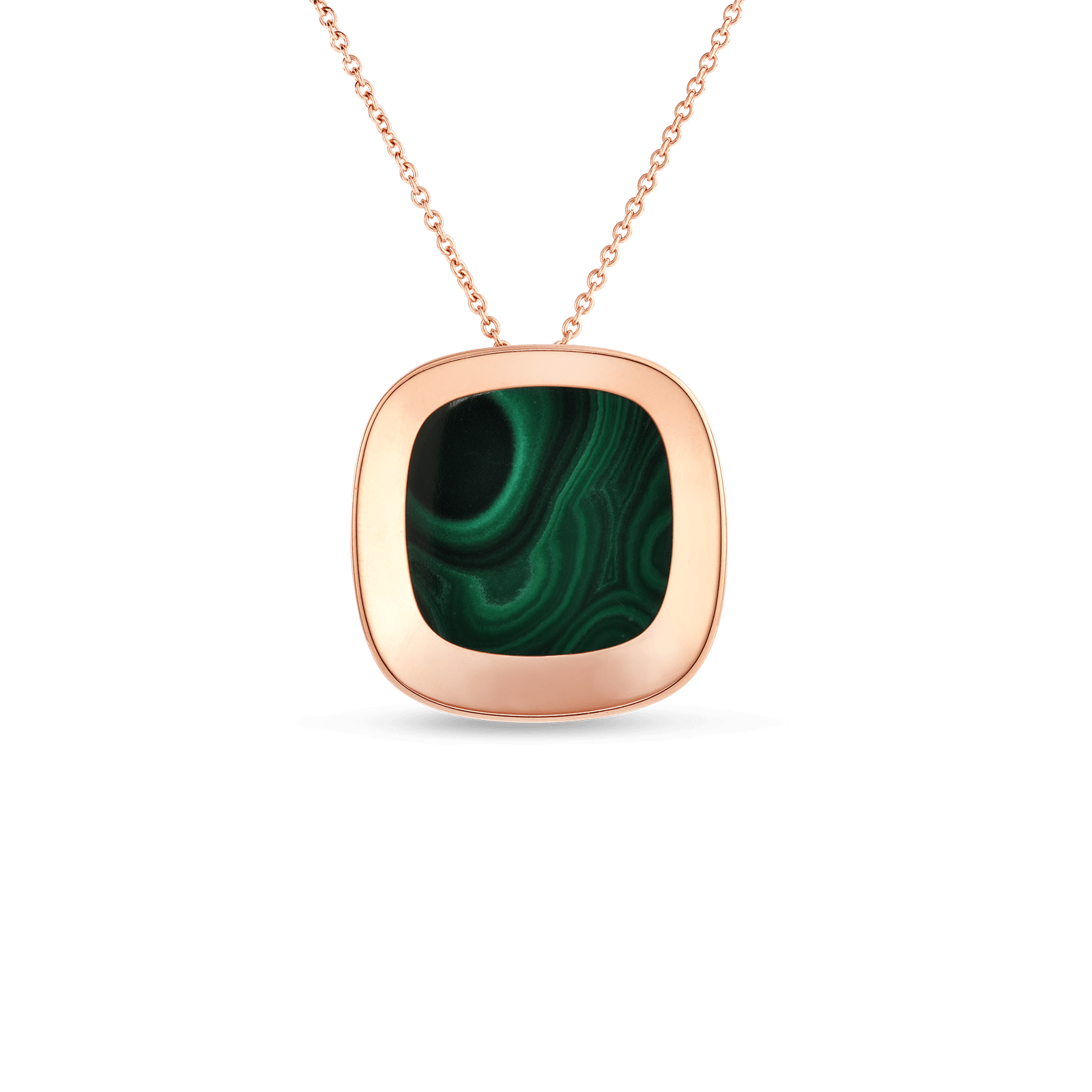 Large pendant with malachite roberto coin roberto coin 18k rose gold large pendant with aloadofball Choice Image