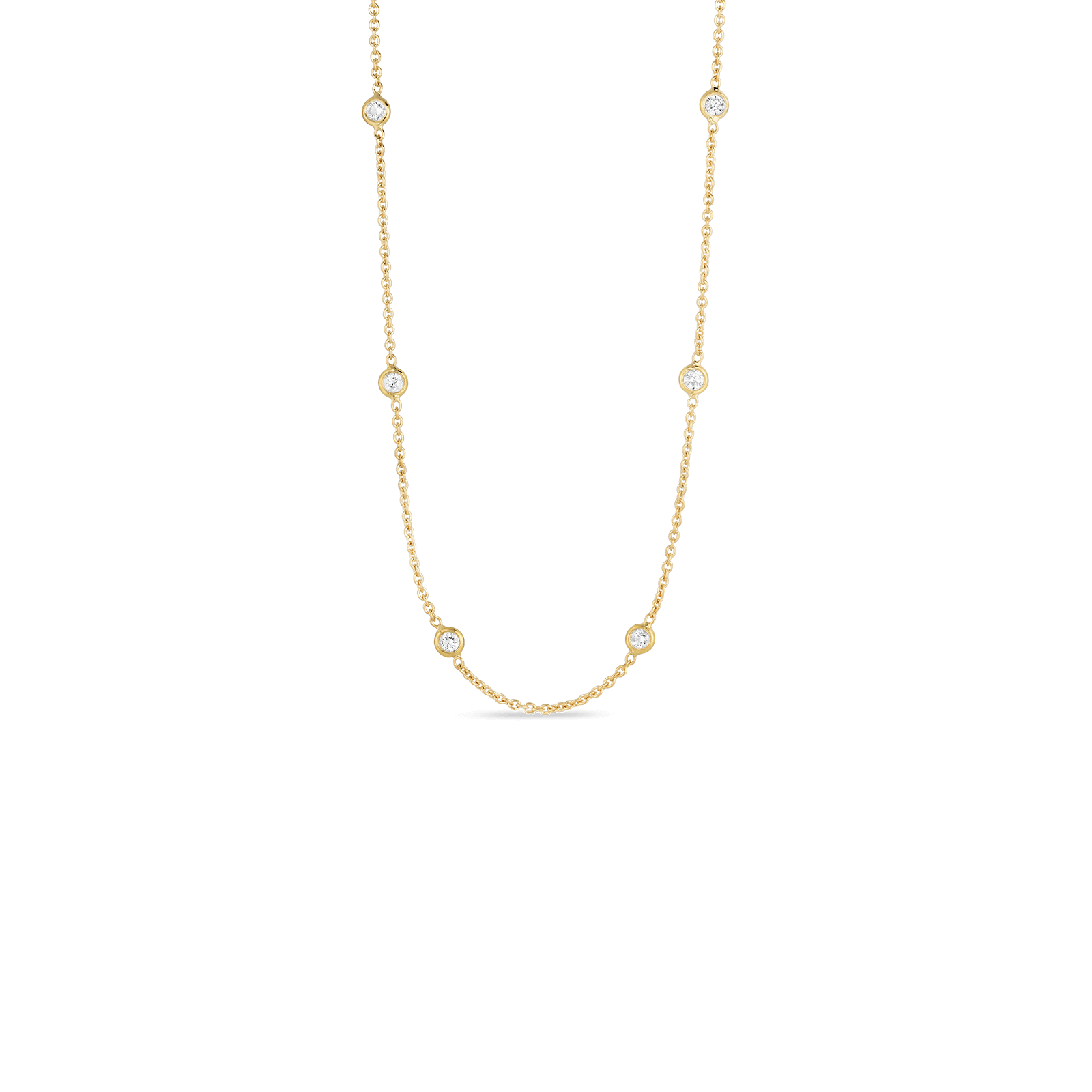 roberto necklace product with white diamond coin stations gold