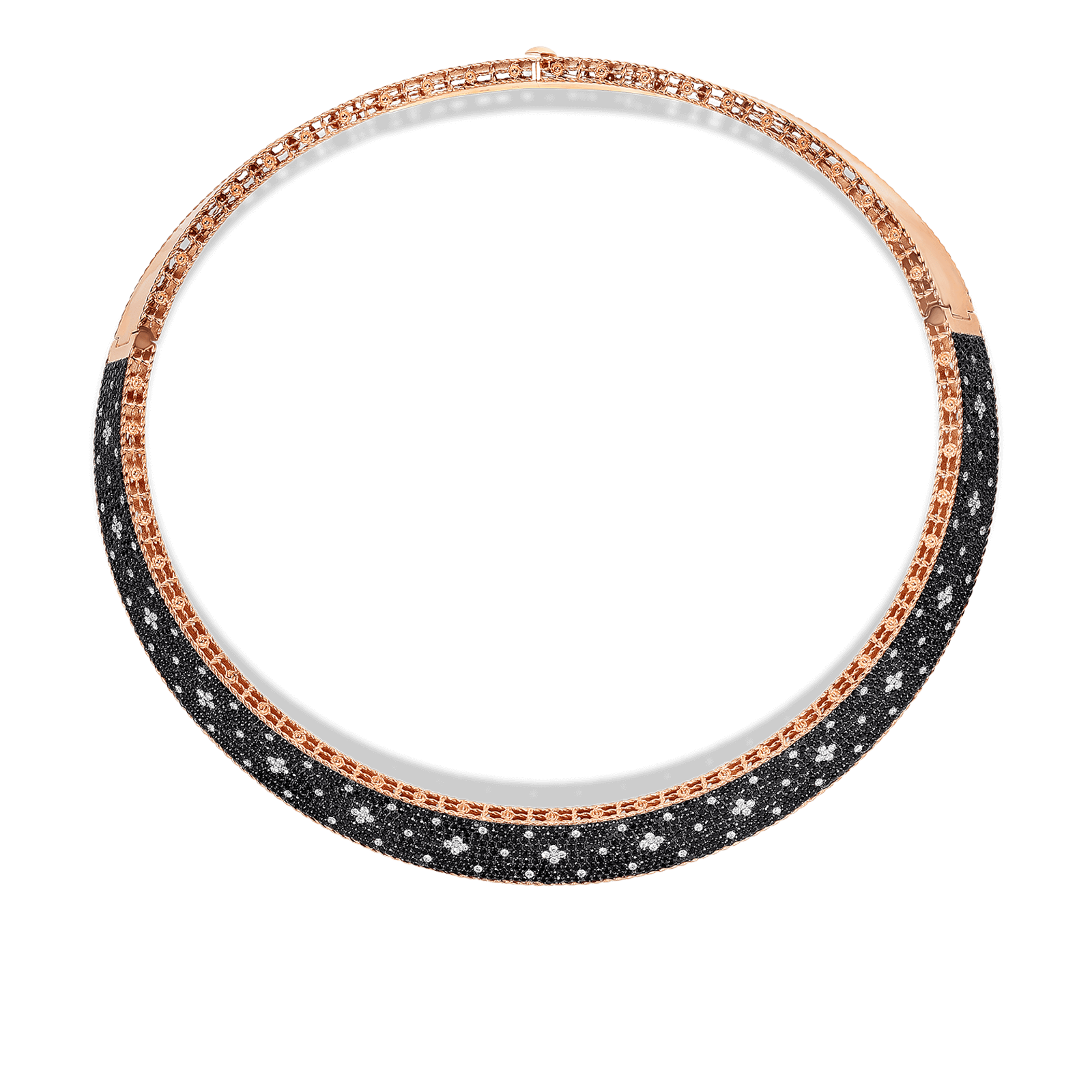 Roberto-Coin-18k-Rose-Gold-Venentian-Princess-Wide-Collar-with-Black-and-White-Fleur-de-Lis-Diamonds-8882251axcox_Top