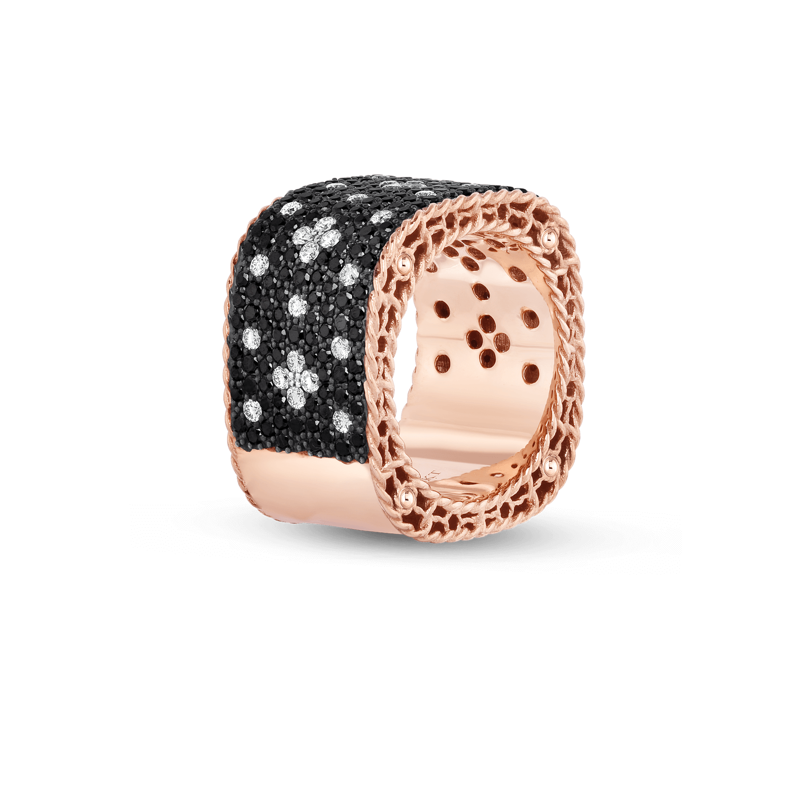 Roberto-Coin-18k-Rose-Gold-Venentian-Princess-Wide-Ring-with-Black-and-White-Fleur-de-Lis-Diamonds-8882251ax65x_side