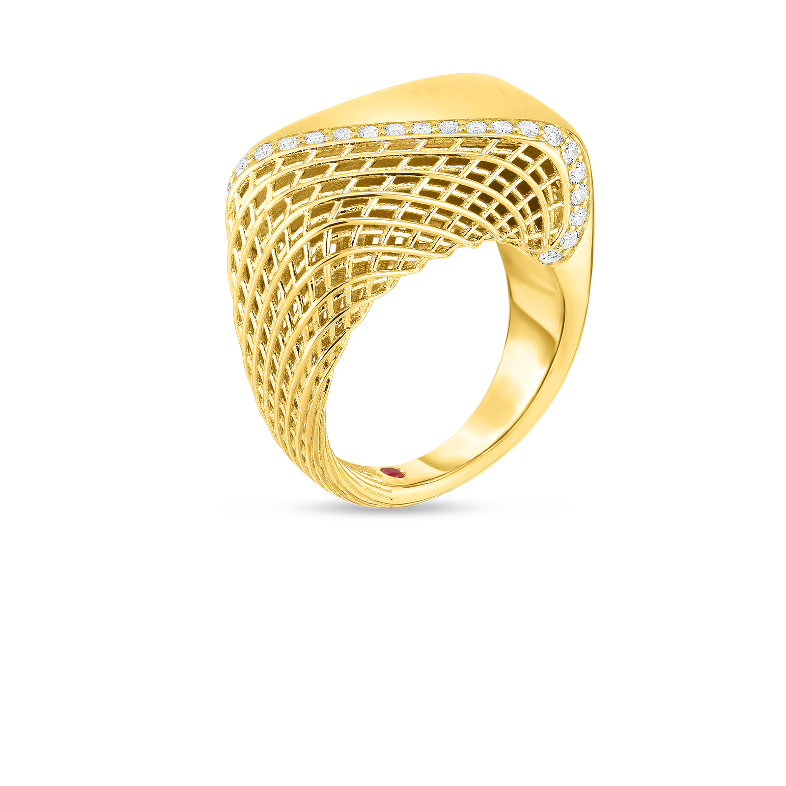 18kt gold ring with diamonds