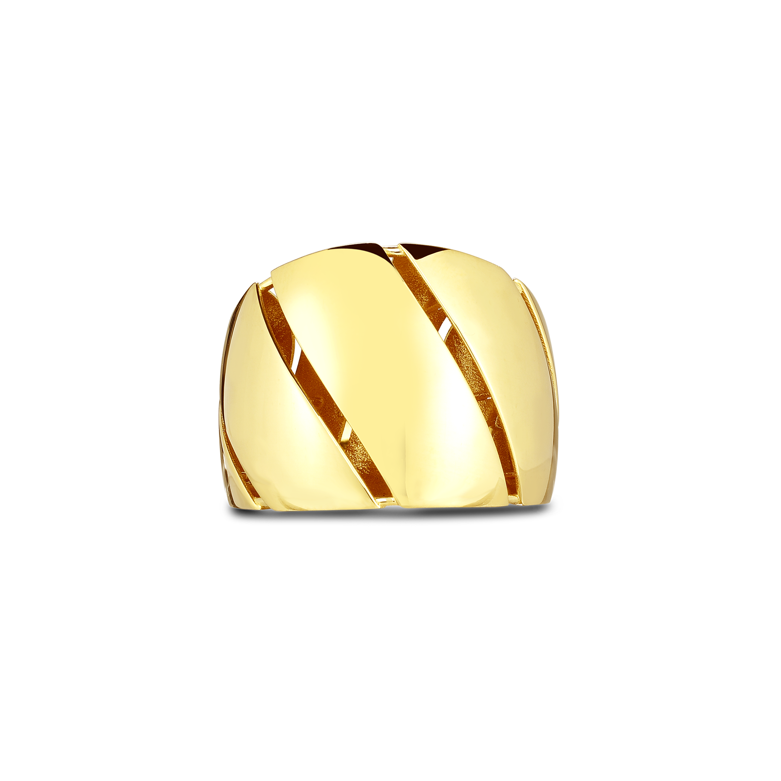 18kt Gold Torchon Ring