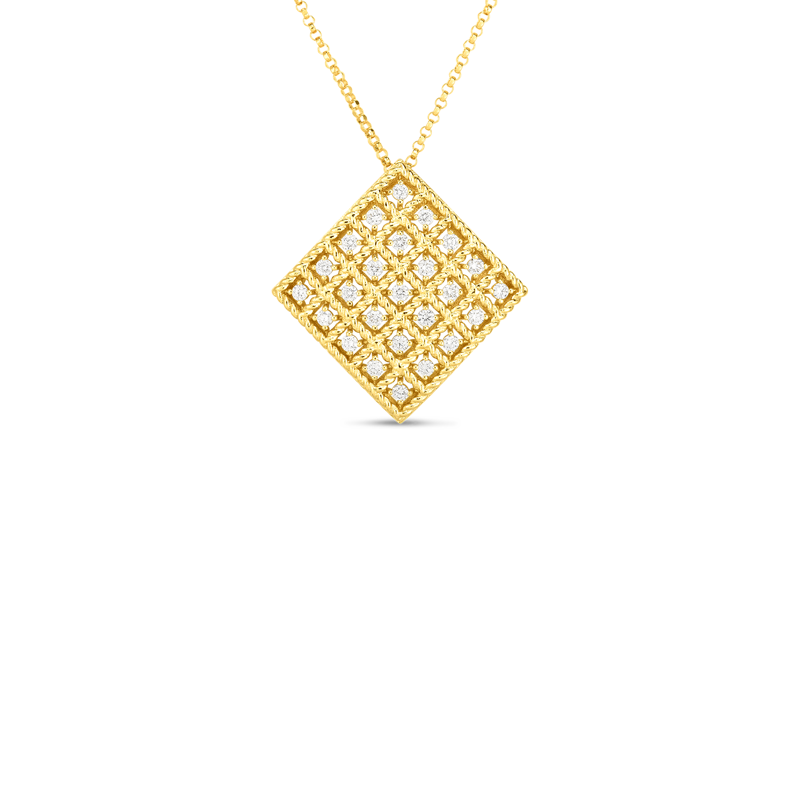 18k Gold & Diamond Byzantine Barocco Medium Pendant