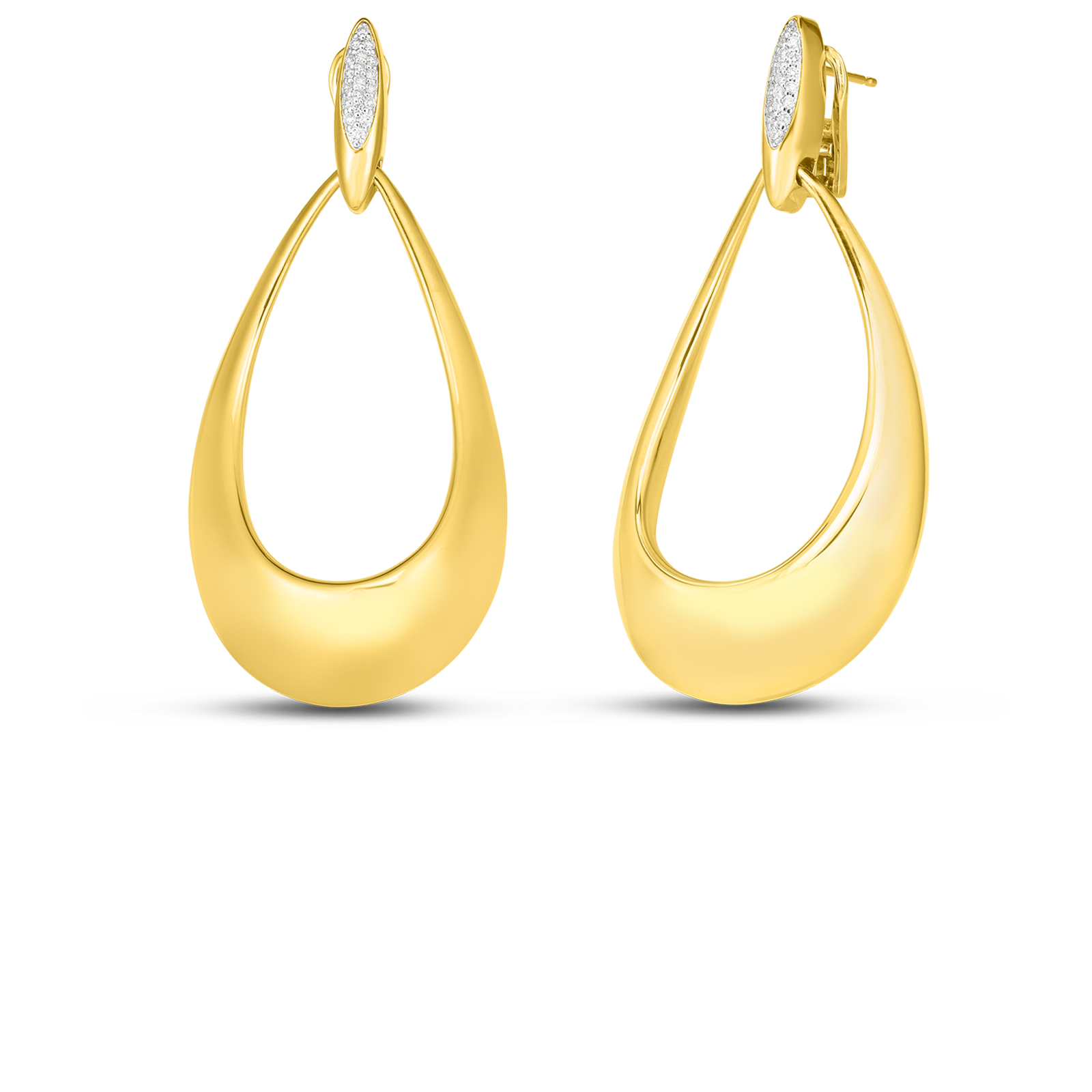 18k Gold And Diamond Doorknocker Earring