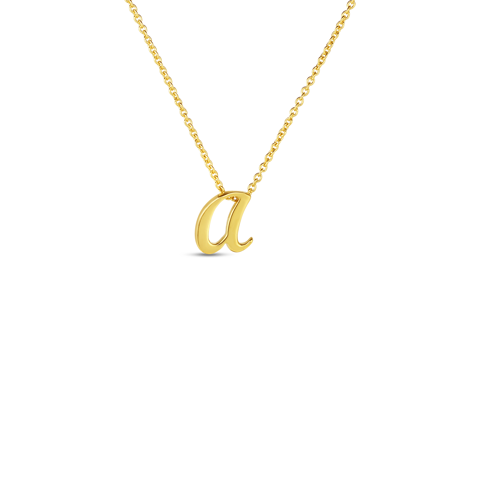 18k Small Script Initial 'a' Pendant On Chain