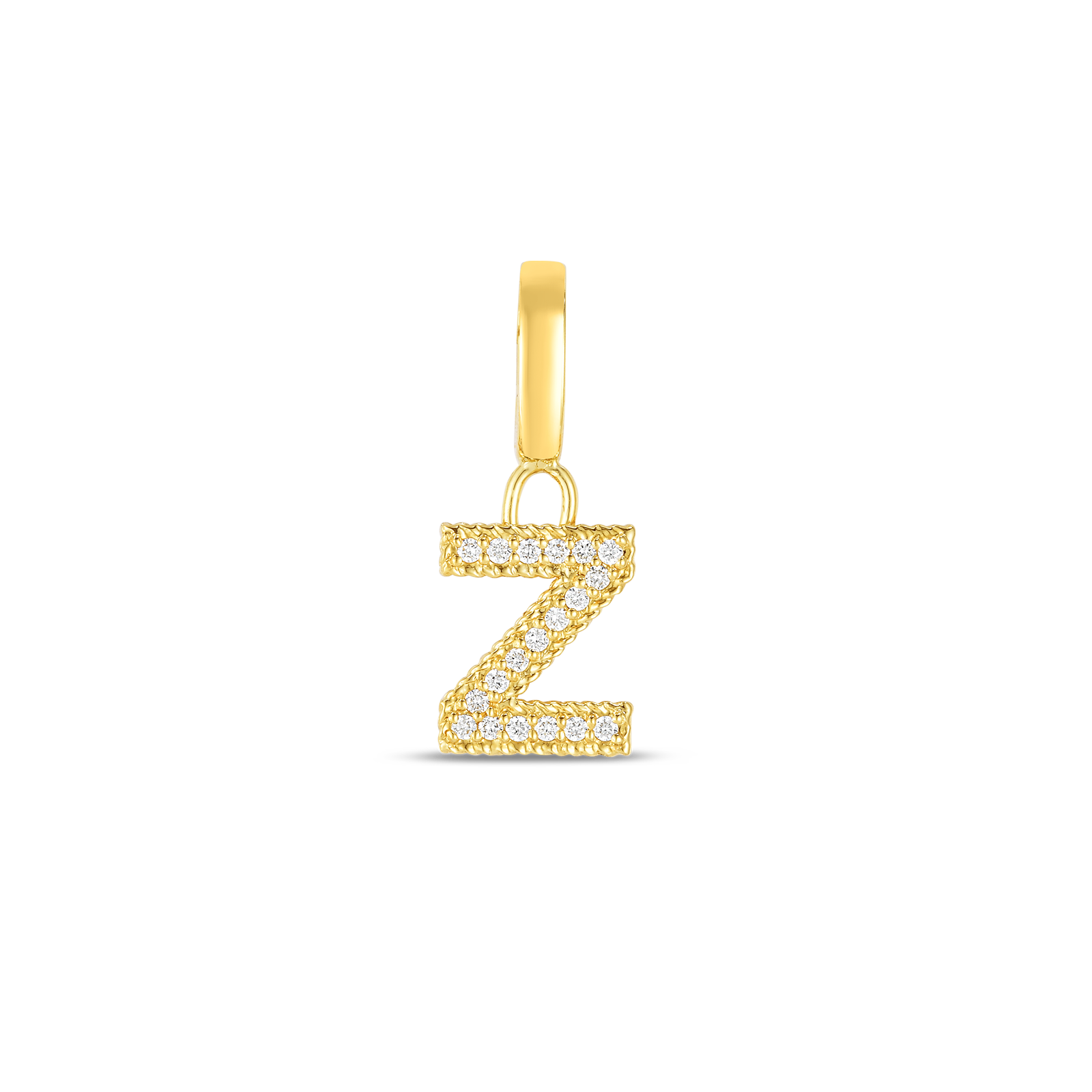 18k Gold & Diamond Princess Letter 'Z' Charm