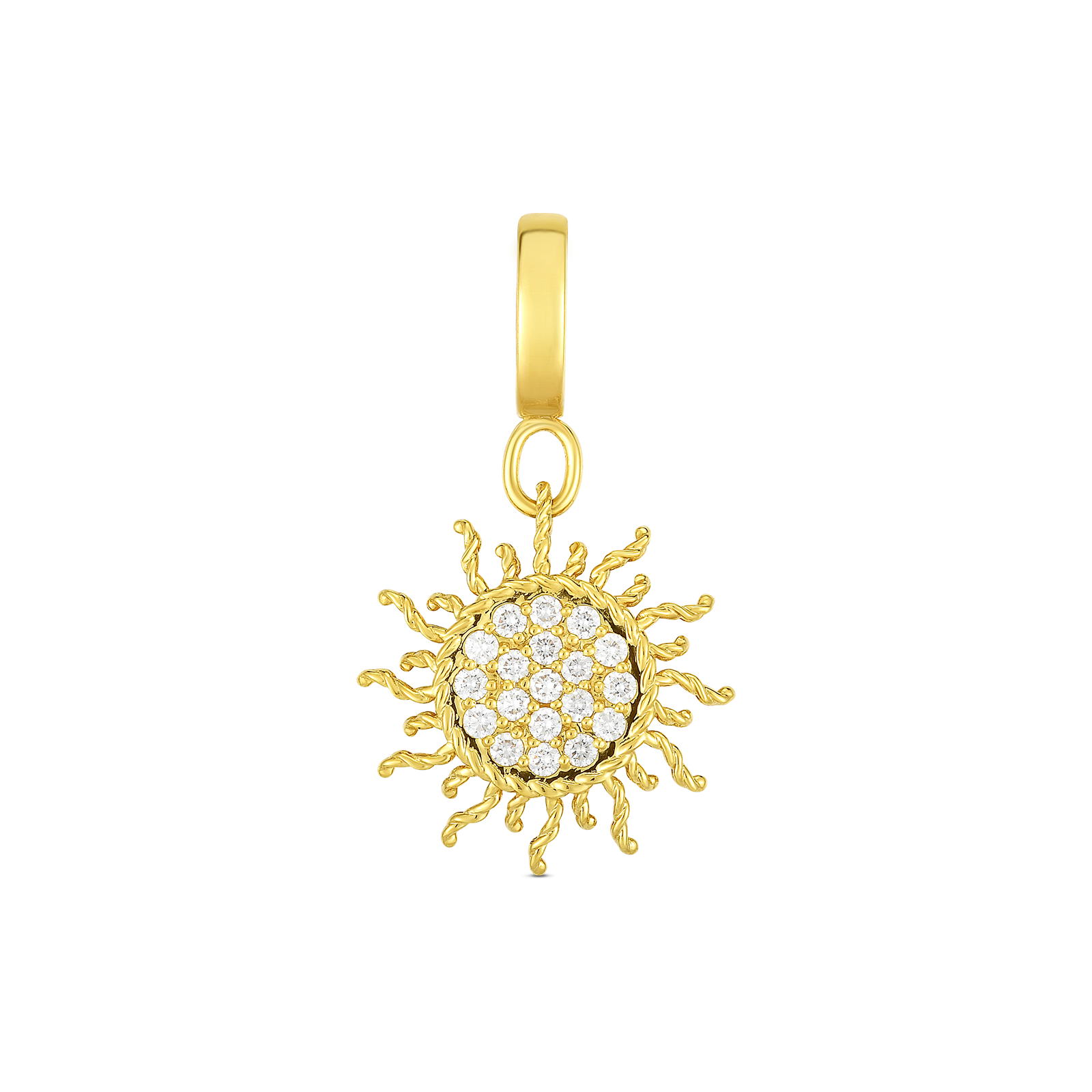 18k Gold & Diamond Princess Sun Charm