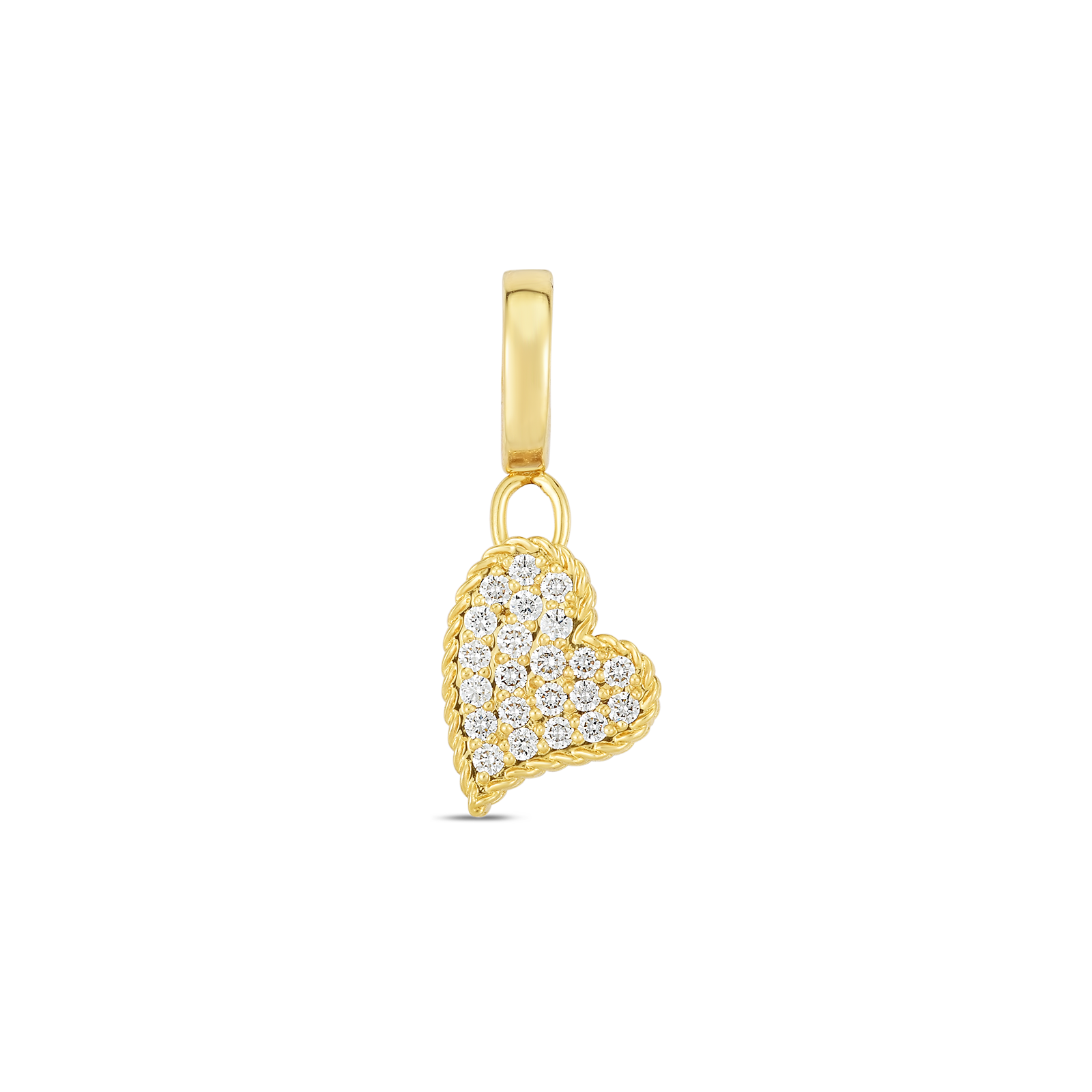 18k Gold & Diamond Princess Heart Charm